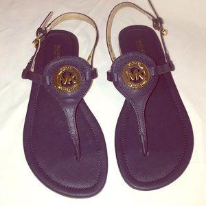 Michael Kors Navy Blue Thong Sandals!